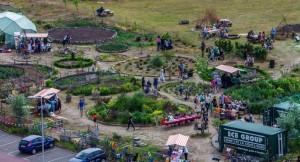 Tuin op de Pier. Kookwedstrijd Koken in het Groen, juni 2015. Foto Hans Hunefeld